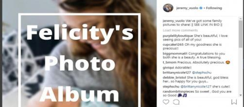 Counting On: Jeremy Vuolo post Felicity Photo Album to Instagram with redirect link - Image credit - Jeremy Vuolo | Instagram