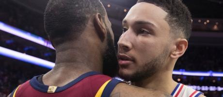 Ben Simmons was 'a little bit' disappointed that LeBron didn't join Philly, but still feels they can compete. - [The Fumble / YouTube screencap]
