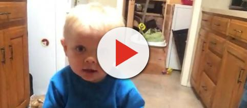 Samuel Dillard,3, gets first haircut by mom, Jill Duggar Dillard. [Image Source: Dillard Family Official - YouTube]