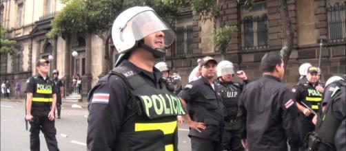 Policía hace presencia en manifestación Costa Rica