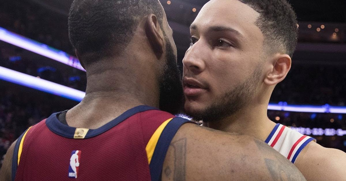 af0be2494e6f Ben Simmons says he was  a little bit  disappointed LeBron James didn t join  Sixers