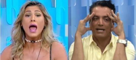 Internautas promovem tuitaço pedindo saída de Leo Dias e Lívia Andrade