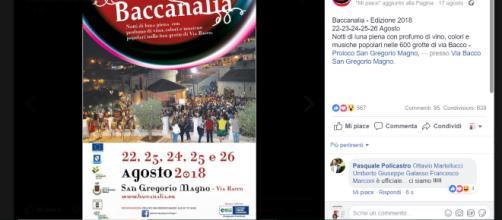 baccanalia 2018 via bacco san gregorio magno salerno