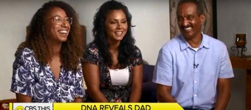 John Gonsalves never dreamed that his birthday gift of a DNA test kit would reveal a second daughter. [Image Source: CBSThisMorning - YouTube]