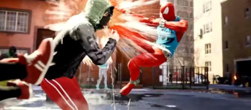 The Scarlet Spider suit is added in the 'Spider-Man' PS4 game with its own special ability. - [JorRaptor / YouTube screencap]