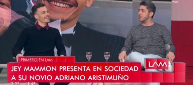 Jey Mammon y su Pareja Adriano Aristumuño