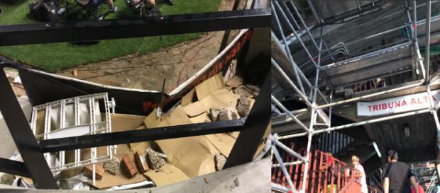 El Estadio de Vallecas se encuentra en un lamentable estado