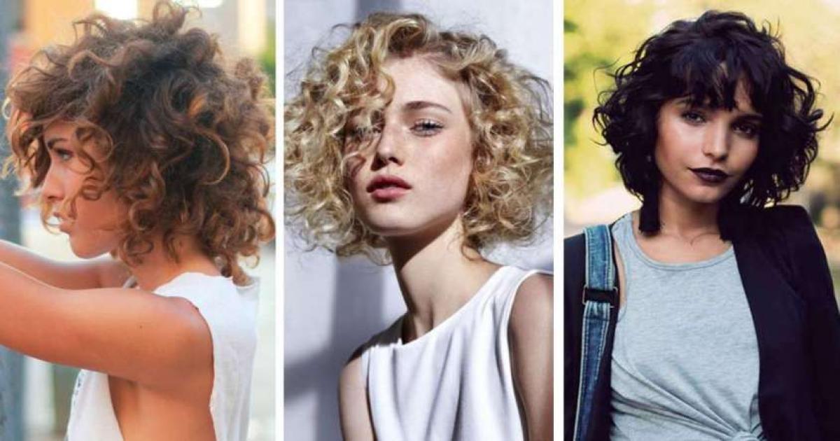 Tagli capelli ricci 2019 con frangia