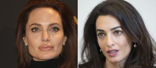 Angelina Jolie siente celos por los actos humanitarios de Amal Clooney