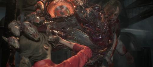 Claire Redfield fights William Birkin in the new 'Resident Evil 2' demo at Gamescom [Image Credit: Residence of Evil/YouTube screencap]