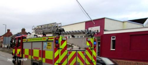 Irish man's house burnd ywards away from fir station - Image credit - Jaggery   geograph