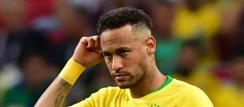 Neymar durante un partido en el pasado Mundial