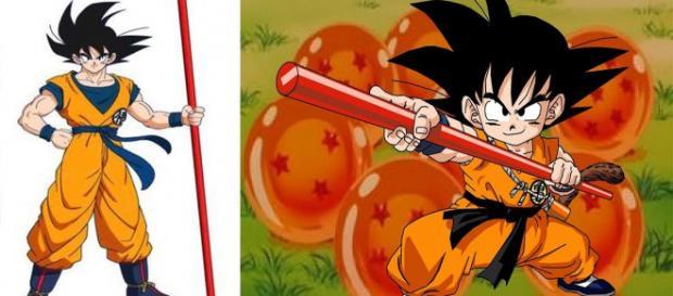 Son Goku besitzt den Mönchsstab seit er ein Kind ist.