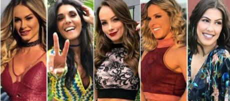 As substitutas das cinco bailarinas que foram demitidas do Domingão do Faustão, já participaram do programa.