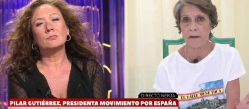 Cristina Fallarás y Pilar Gutiérrez
