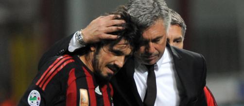 Gennaro Gattuso e Carlo Ancelotti.