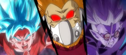 New Dragon Ball Heroes trailer debuts Gohanks and Cumber's Golded Oozaru form. [image source: Dragon Ball Heroes Channel/ YouTube screenshot]