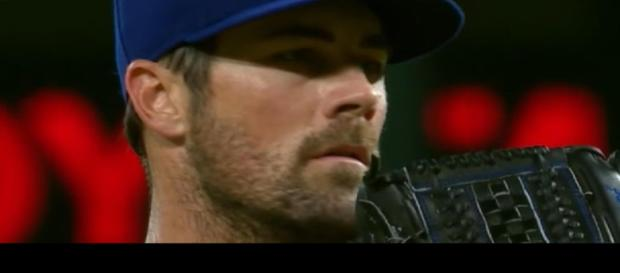 Cole Hamels has been one of the best starters in baseball since being traded to the Cubs. [Image via MLB Tonight/YouTube]
