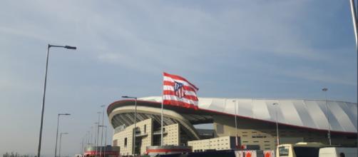 El Wanda Metropolitano, antes de comenzar el Rayo-Atlético (foto de Sergio Sánchez)