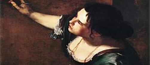 """Image source: """"Self-Portrait as the Allegory of Painting"""" by Artemesia Gentilesci - Wikipedia"""