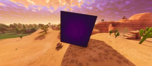 The giant purple cube is moving. [Image Source: postboxpat - YouTube]
