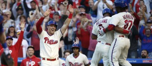 The Phillies are one of the biggest surprises in baseball. [Image Source: MLB - YouTube]
