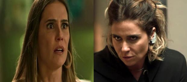 Luzia faz Karola ficar assustada. (Foto: Divulgação TV Globo)
