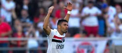 Centroavante fez seu sexto gol com a camisa do São Paulo. Foto: gazetaesportiva.com
