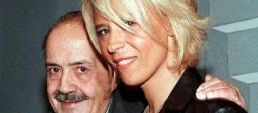 Maurizio Costanzo insieme alla moglie Maria De Filippi