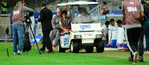 Pedro se machucou no jogo contra o Cruzeiro
