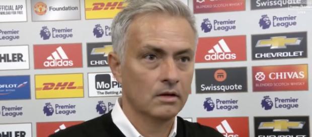José Mourinho após a derrota com o Tottenham [Imagem via YouTube/Sky Sports]