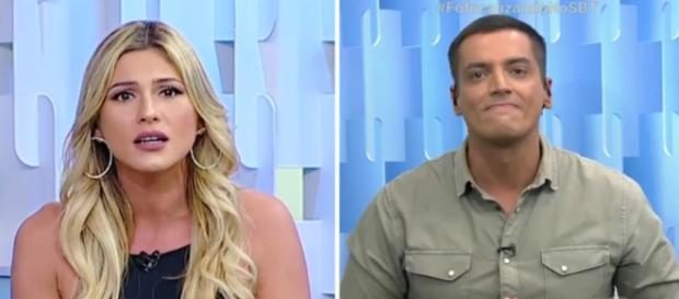 Lívia Andrade e Leo Dias no SBT