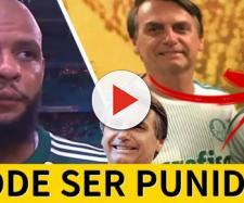 Felipe Melo dedicou gol de empate do Palmeiras à Jair Bolsonaro. (foto reprodução).