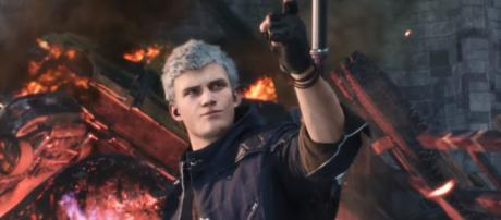 Nero joins Dante and Nico to fight a demon invasion in 'Devil May Cry 5.' - [Devil May Cry / YouTube screencap]