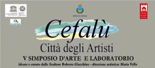 """Locandina """"V Simposio d'arte e laboratorio - Cefalù Città degli artisti"""""""
