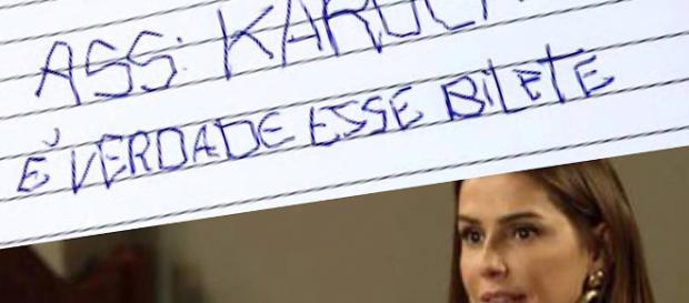 Karola e o bilhete escrito por Deborah