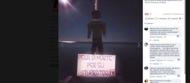 Stupro 15enne a Jesolo, per la città manichini col cappio al collo: 'Pena di morte', le foto