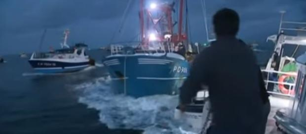 Violece as French fishermen chase British from scallop grounds in English Channel - Image - EVN France Television via Euro News | YouTube