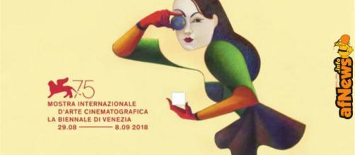Il manifesto ufficiale di Lorenzo Mattotti della 75^ Mostra del Cinema di Venezia