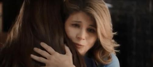Lori Loughlin sees love on the horizon for Elizabeth (Erin Krakow) on 'When Calls the Heart.' [Image source:WhenCallsTheHeartFan-YouTube]