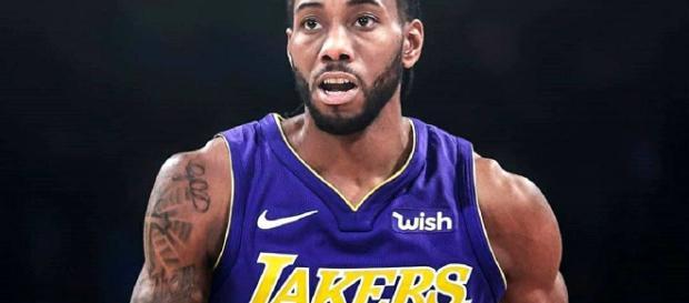 Photo of Kawhi Leonard in a Lakers uniform. - [lakers24ever / Instagram]
