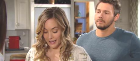 Bold and the Beautiful Hope and Liam [Image source: CBS Bold and the Beautiful - YouTube]