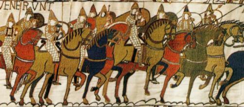 Parte da tapeçaria de Bayeux. Foto: Reprodução.