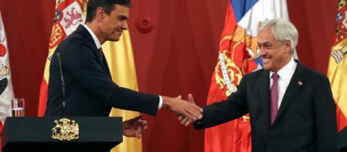 Pedro Sanchez se reúne con el presidente de Chile