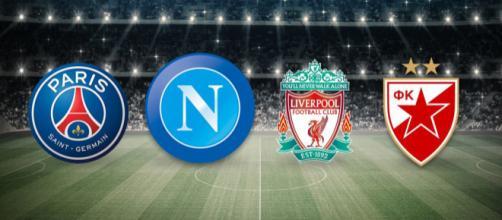 Gruppo C con PSG, Liverpool e Stella Rossa
