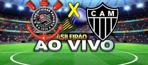 O Corinthians receberá o Atlético-MG na Arena