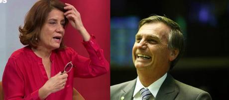 Miriam Leitão entrevista Jair Bolsonaro e comete gafe
