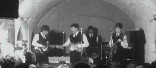 The guitar played by George Harrison in the Beatles' last Cavern Club gig is up for sale. [Image sirpaulru/YouTube]