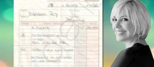 Bárbara Rey y la factura filtrada por OkDiario