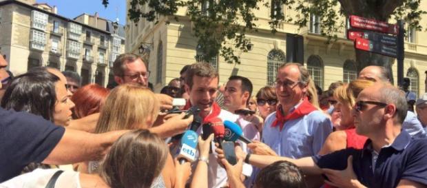 Pablo Casado en imagen durante su visita